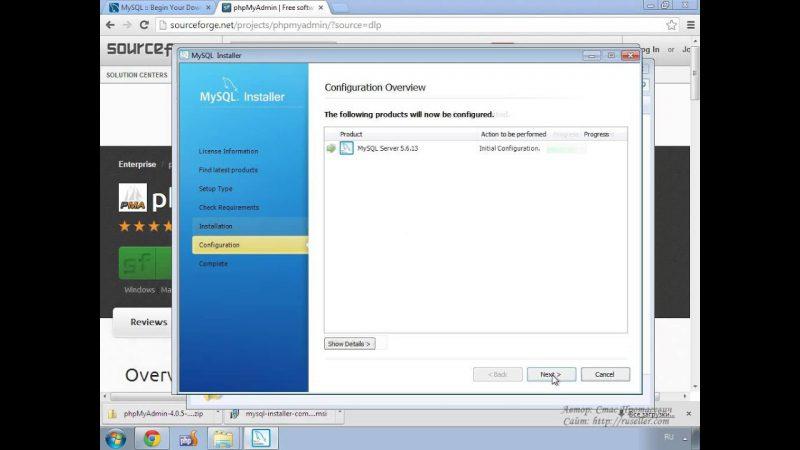 Установка MySQL и phpMyAdmin from Techmirrors