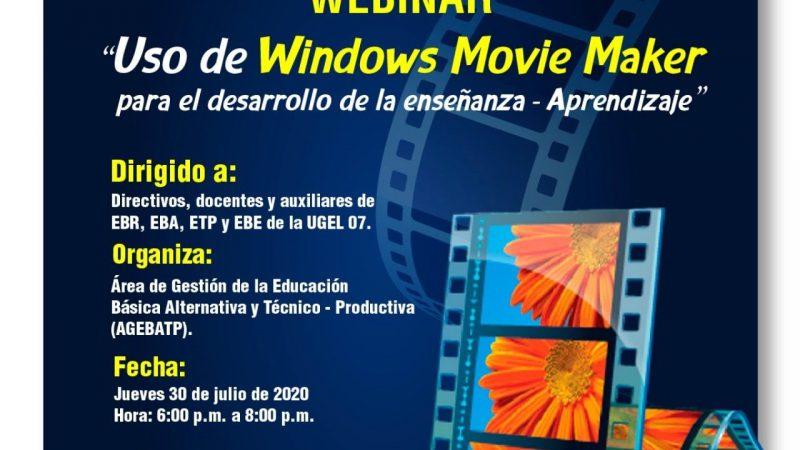 Webinar – Uso de Windows Movie Maker para el desarrollo de la enseñanza – Aprendizaje from Techmirrors