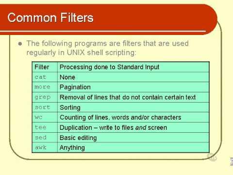 07. Unix Shell Scripting Tutorial – Text Processing (Part 1)
