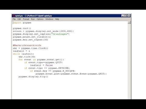Python 2D Spiele programmieren Teil 1 (Download pygame und Initalisierung) Techmirrors