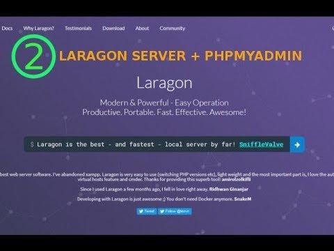 2 – Laragon Server + phpMyAdmin from Techmirrors