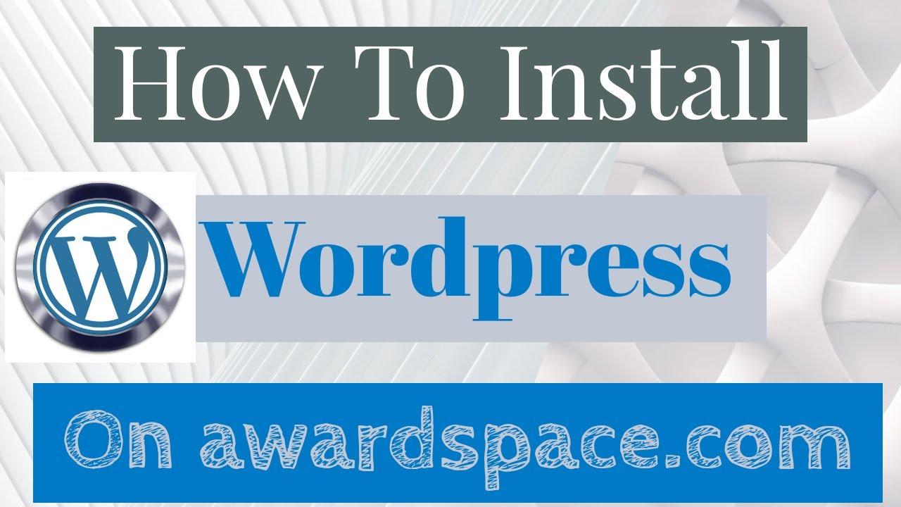 How to install WordPress on awardspace.com Cpanel | Install WordPress manually | 2020 | Urdu / Hindi