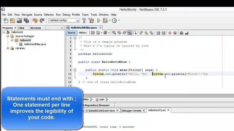 Learn Programming in Java – Lesson 01 : Java Programming Basics from Techmirrors