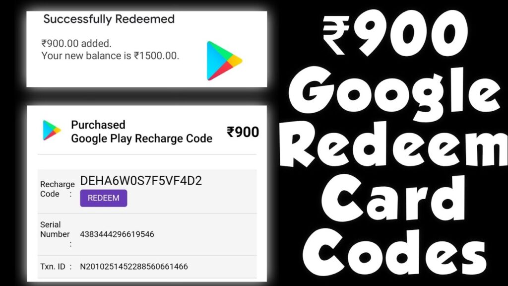 900 ] Free google play gift card   Redeem code for play