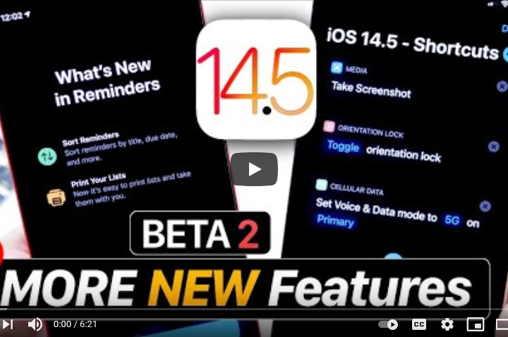 iOS 14.5 Beta 2 MORE New Features – Follow Up IOS tips and tricks from Tech Mirrors