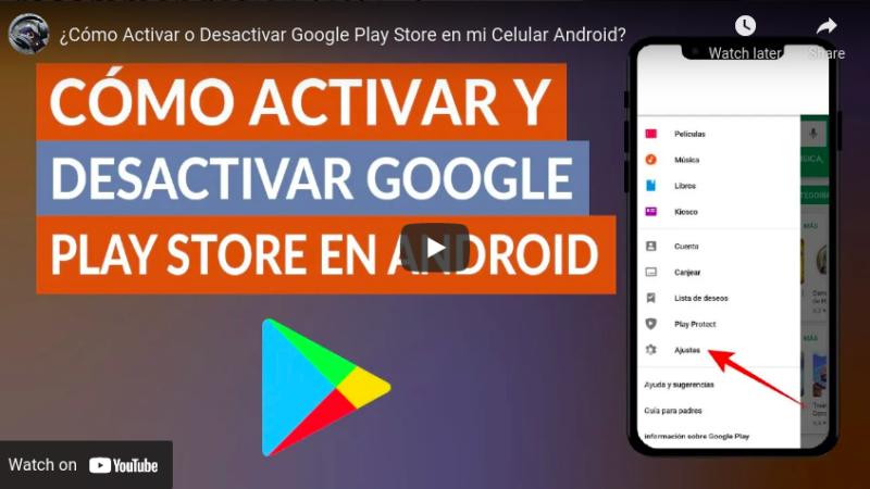 ¿Cómo Activar o Desactivar Google Play Store en mi Celular Android? Android tips from Tech mirrors