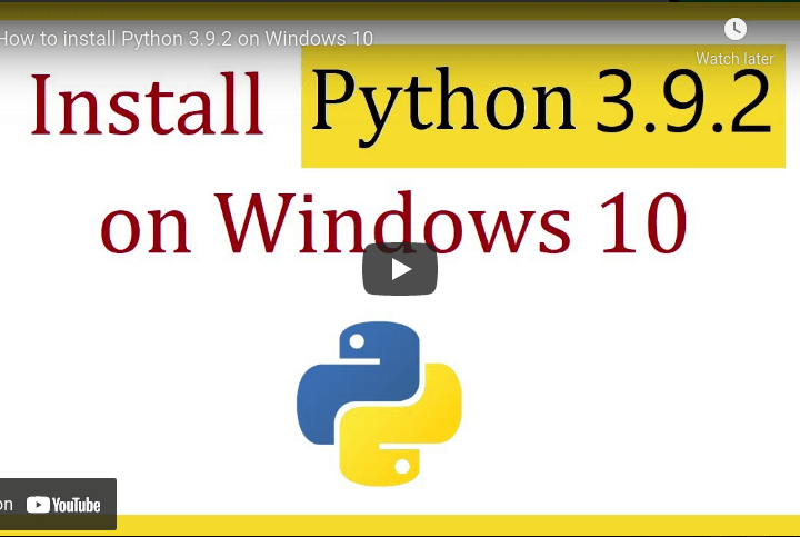 How to install Python 3.9.5 on Windows 10 python tricks from Techmirrors